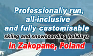 Professionally run, all-inclusive and fully customisable skiing and snowboarding holidays in Zakopane, Poland ... visit www.sunshineworldpoland.com